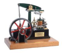 An exhibition standard model of a Stuart Turner standard beam engine