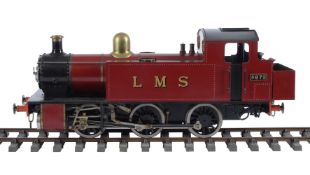 A well engineered 5 inch gauge model of a 0-6-0 side tank locomotive No 4972