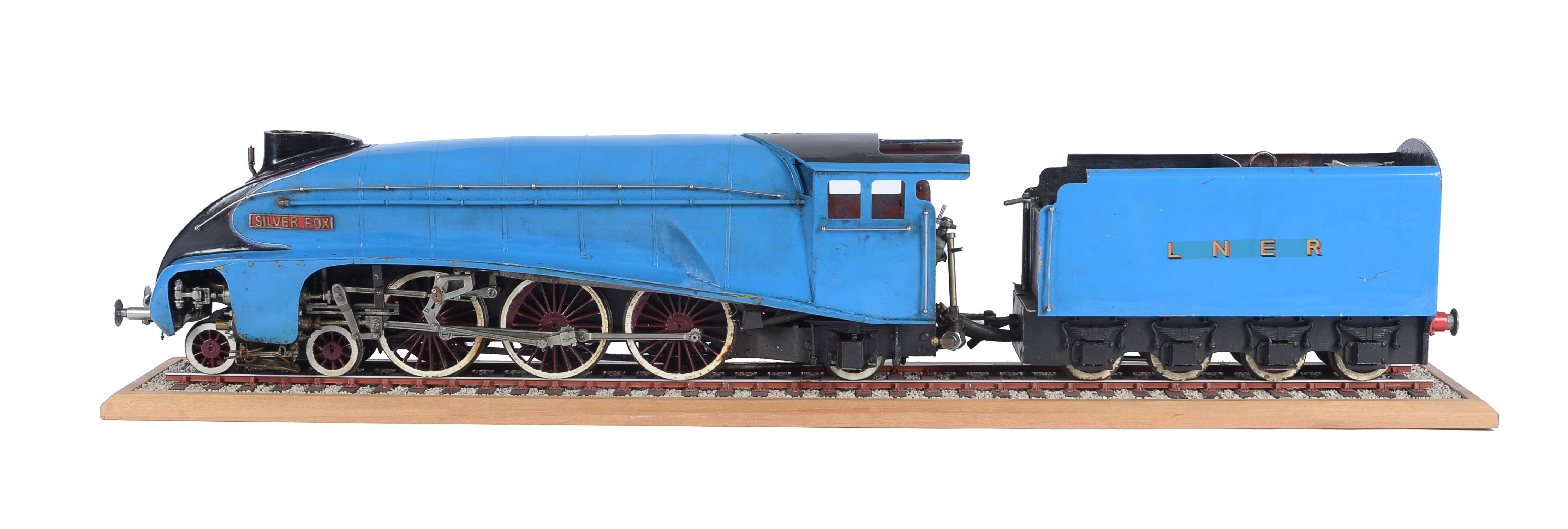 Lot 32 - A rare restoration project model of a 3 1/2 inch gauge A4 LNER 4-6-2 tender locomotive 'Silver Fox'