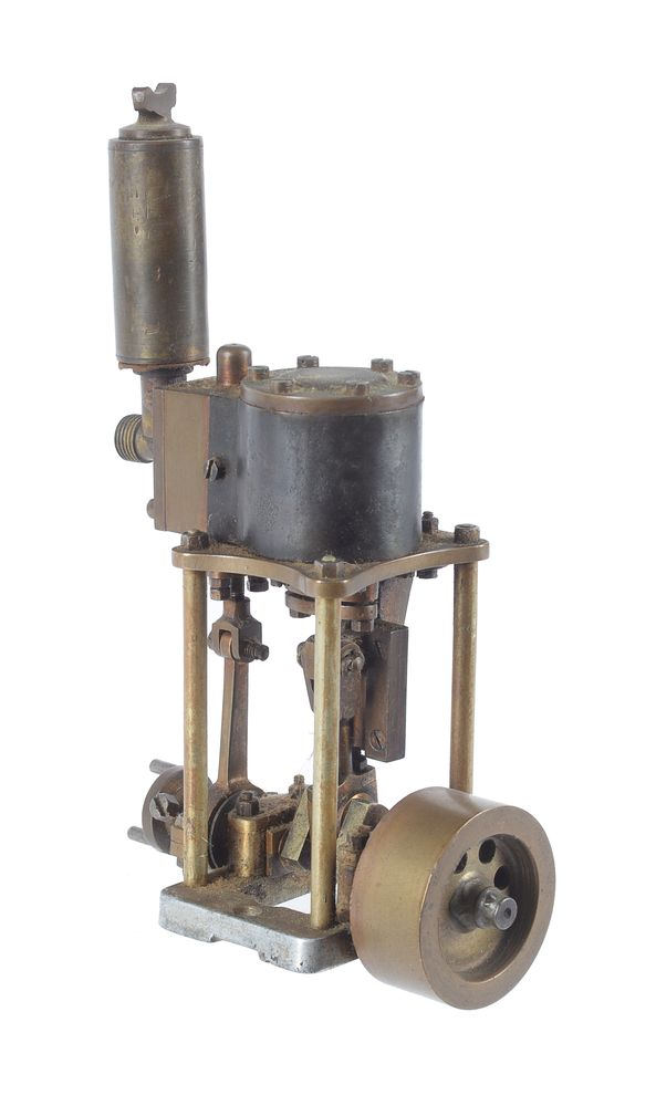 Lot 96 - A model of a live steam four column vertical boat engine