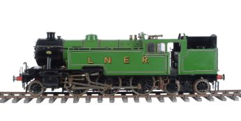 An exhibition standard 5 inch gauge model of a 2-6-4 Thompson Class L1 side tank locomotive