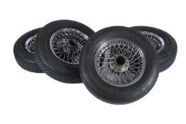 Jaguar E-Type series 1 chrome wire wheels