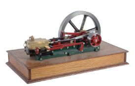 A well engineered model of a single cylinder horizontal mill engine