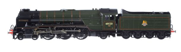 A fine gauge 1 model of a LNER A1 Class 4-6-2 tender locomotive No 60120 'Kittiwake'
