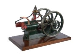 A well engineered model of a 'Jowitt Major' twin cylinder 'Popet valve' horizontal mill engine