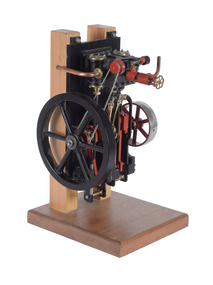 Lot 114 - A well engineered model of a live steam wall mounted engine