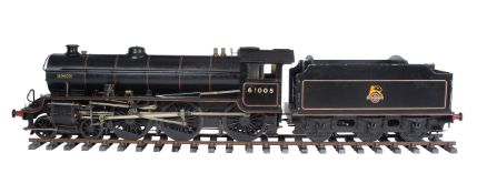 A well engineered 5 inch gauge model of a Thompson Class B1 4-6-0 tender locomotive No 61005 'Bongo'