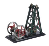A well engineered 1/5th scale model of a French live steam engine by M' A de Polignac