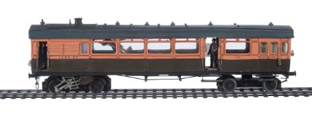 A 10mm scale gauge 1 model of a LSWR Drummond Railmotor No 5