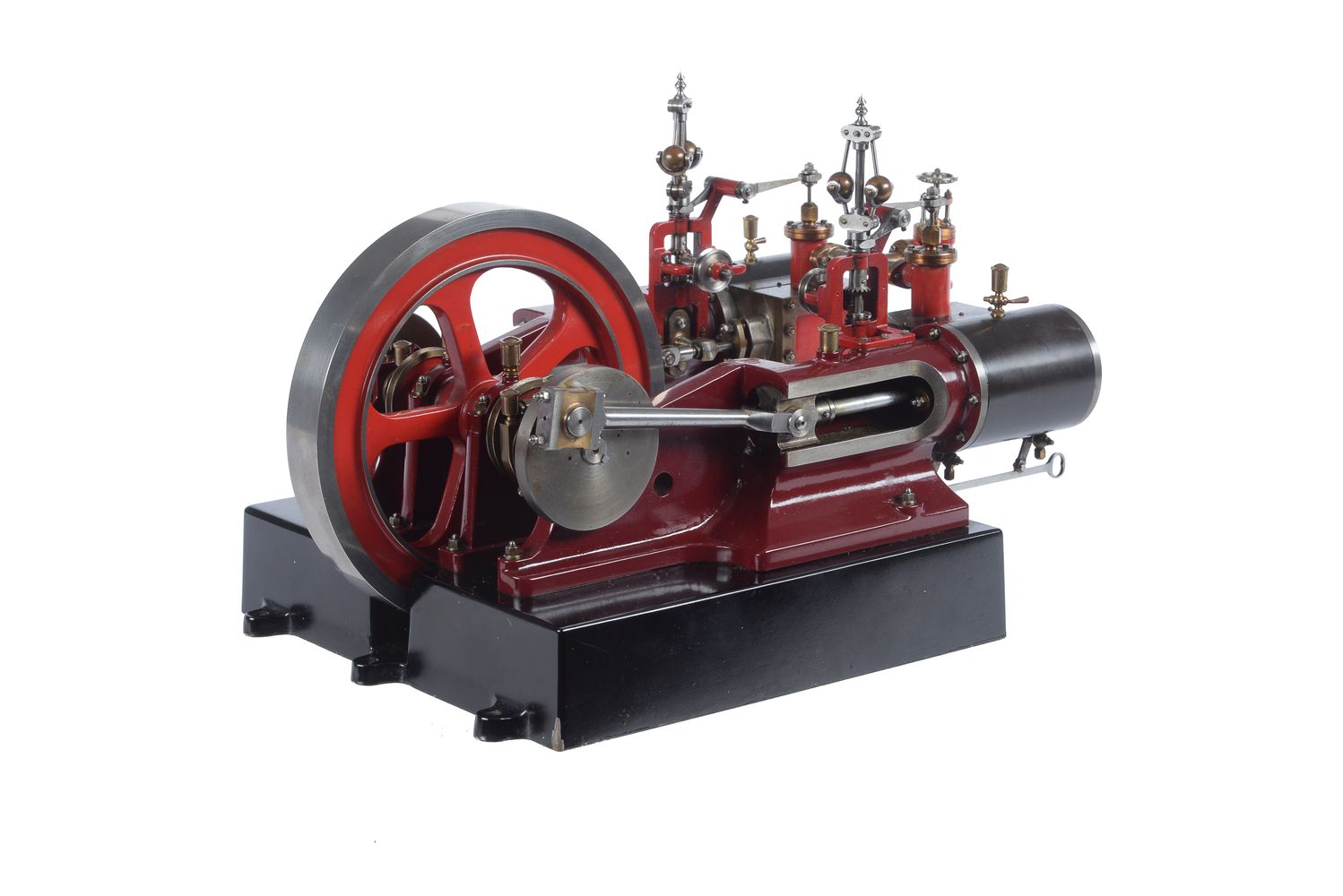 Lot 91 - An exhibition standard model of a double Tangye horizontal mill engine