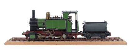A well engineered 3 1/2 inch gauge model of a 0-6-0 narrow gauge locomotive