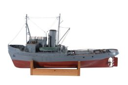 An exhibition standard model of the Assurance Class WW2 armed tug 'Endeavour' Plymouth