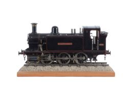 A well engineered 3 1/2 inch gauge model of a 0-6-0 side tank live steam locomotive
