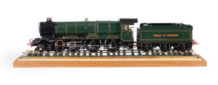 A well engineered 3 1/2 inch gauge model of a Great Western Railway 4-6-0 King Class tender locomoti