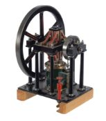 A well engineered model of a James Booth rectilinear live steam stationary engine