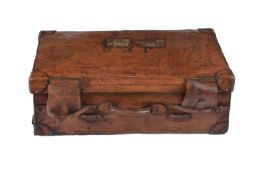 A leather steamer travelling case/trunk