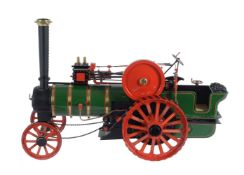 A well engineered 1 inch scale model of a Burrell general purpose agricultural traction engine