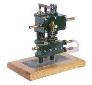A well engineered model of a twin duplex 'donkey' steam pump