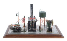 A model of a Stuart Turner live steam plant