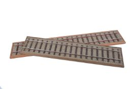 Two 5 inch gauge locomotive display tracks