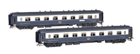 Two CIWL twin bogie corridor Pullman coaches