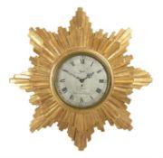 An impressive George III giltwood cartel timepiece, Thomas Law, Southwark, late 18th century