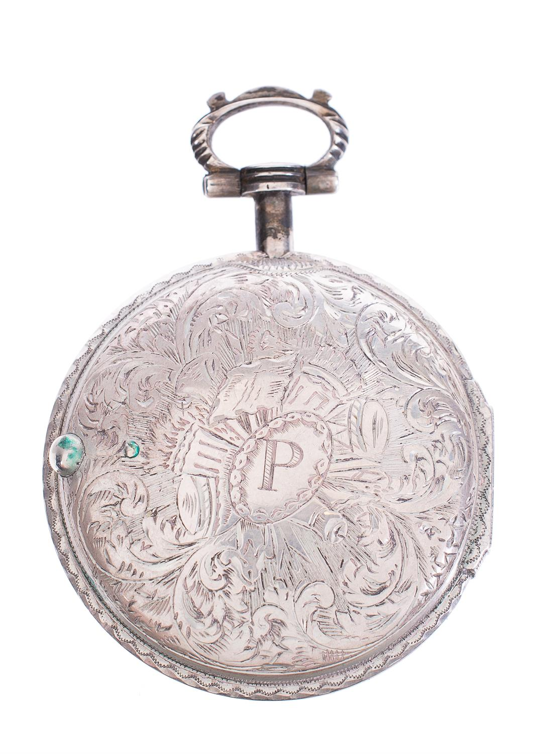 Lot 53 - A silver and tortoiseshell triple-cased verge pocket watch, Edward Prior, London, circa 1875