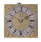 A William III thirty-hour longcase clock movement and dial, William Clement, London, circa 1695