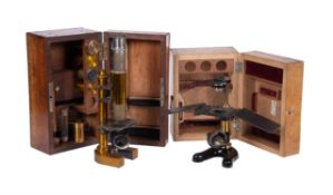 An Austrian lacquered brass compound monocular microscope, C. Reichert, Vienna, circa 1900