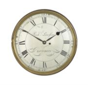 A George III fusee dial wall timepiece, Richard Lawson, London, late 18th century