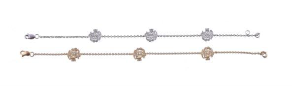 A diamond Allah bracelet