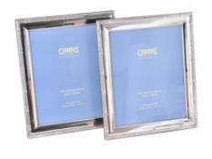 Two modern silver mounted rectangular photo frames by Carr's of Sheffield Ltd.