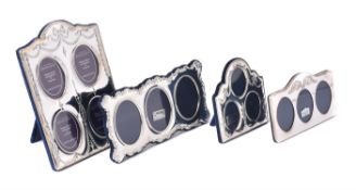 Three modern silver mounted photo frames by Carr's of Sheffield Ltd.