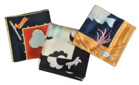 Bulgari, Mare Allegro, a silk scarf by Davide Pizzigoni