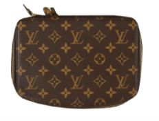 Louis Vuitton, a monogrammed coated canvas jewellery case