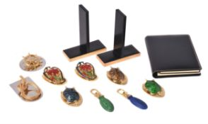 A collection of Asprey items