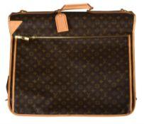 Louis Vuitton, a monogrammed canvas suit carrier
