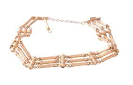 A gold coloured bracelet