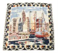 Prada, New York, a silk scarf