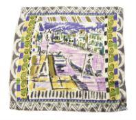 Prada, Paris, a silk scarf