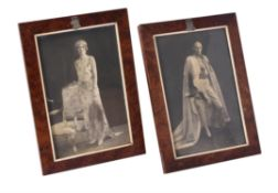 Edward Frederick Lindley Wood, Lord Irwin and Lady Dorothy Augusta, a pair portrait photographs