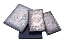 Two silver mounted address books by Keyford Frames Ltd.