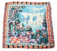 Prada, Capri, a silk scarf