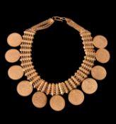 A coin necklace