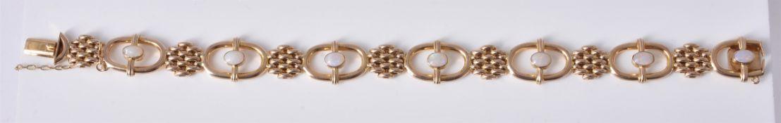 An Edwardian opal bracelet by Deakin & Francis