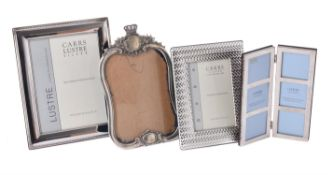 Three silver mounted photo frames by Carr's of Sheffield Ltd.