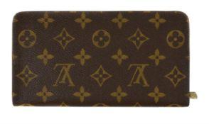 Louis Vuitton, a leather monogrammed purse