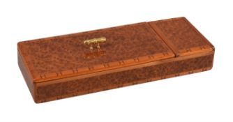 Hermes, a brown lacquered desk tidy