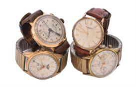 Chronographe Nicao, Swiss, Gold coloured wrist watch
