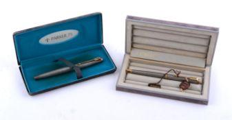 Parker, 75 Cisele, a silver coloured fountain pen